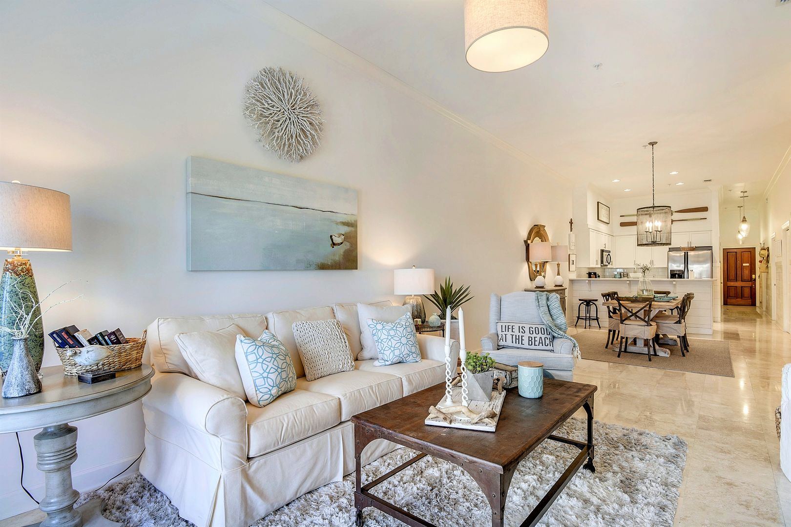 Forever Vacation Rentals living room in the Emerald Coast, Florida